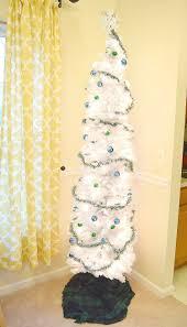 Tall Thin White Christmas Tree
