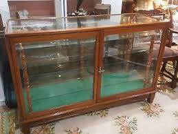 Vintage Oak Haberdashery Shop Counter Display Cabinet