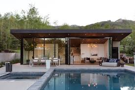 100 Modern Pool House This CanDo Cleverly Goes From Private To Party Mode Dwell