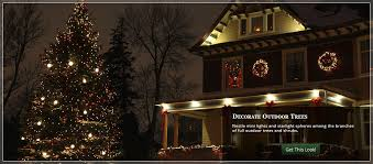 How To Put Lights On A Tree Outside Christmas Tall Outdoor