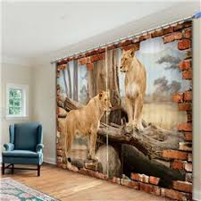 3D Animal Print Curtains For Room Beddinginn