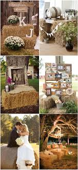 Hay Bale Wedding Ideas 100 Rustic Country And Matched Invitations Indoor