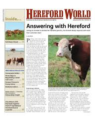 January 2015 Hereford World By American Hereford Association And ...