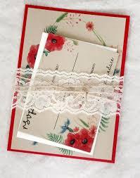 Red Boho Wedding Invitation Rustic Invites Invitations With Persimmon
