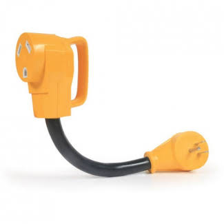 Camco Power Grip Dogbone Electrical Adapter with Easy Grip Handle