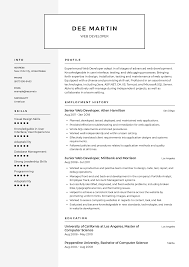 Web Developer Resume Templates 2019 (Free Download) · Resume.io