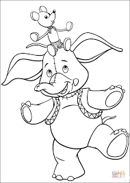 Click The Mr Jumbo Elephant And Clockwork Mouse Coloring