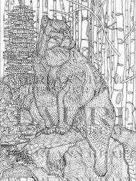 Wyoming Wildlife BEAR Animal Western ART Nature Printable Adult Coloring Book Page Instant Download Zentangle PDF Kraft Color Meditation