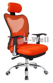 2014 hottest high back orange manager mesh office chair U Well