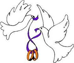 wedding bells and doves clipart