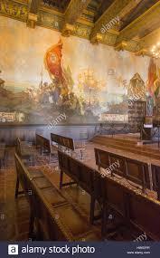 california santa barbara county courthouse mural room stock