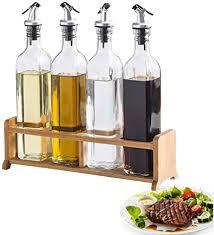 mai bao öl flasche glas öl essig spender ölflasche küche ölbehälter auslaufsicher ausgießer staubdicht sauce cruet 500ml 4 teiliges set