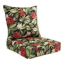Garden Treasures 2-Piece Sanibel Black Tropical Black Floral Deep ... Rocking Chair Cushion Sets And More Clearance Pillows Levo Baby Rocker In Beech Wood With Hibiscus Flower Patio Fniture Cushions At Lowescom Chablis Rose Latex Foam Fill Reversible Surprising Pad Set For Your Home Design Ideas Interesting Glider Elegant Armchair Decor Awesome Comfortable Add Comfort Style To Favorite Amazoncom Barnett Child Seat And Indoor Cracker Barrel