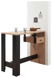 bartisch mit regal in sonoma eiche und weiß