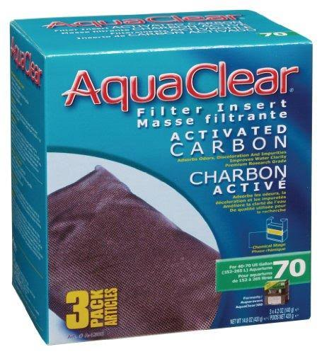 Aquaclear Activated Carbon Filter Insert - 3 ct, 70 gal