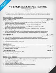 VP Engineer Sample Resume