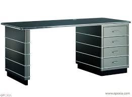 bureau m allique bureau rétro en métal line epoxia mobilier