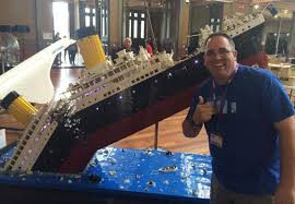 lego titanic depicts the passenger ship s fateful sinking moments