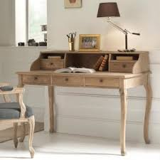 bureau classique meuble de bureau avec tiroirs chêne massif patiné medicis