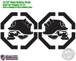2) Metal Mulisha Girl Skulls Bow Vinyl Decals 22