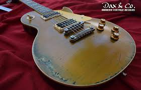 Gibson Les Paul GoldTop 50s Tribute Heavy Relic DaxCo Custom Studio To Standard ConversionWCase