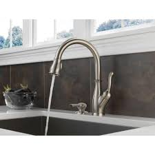 bronze delta savile stainless 1 handle pull down kitchen faucet