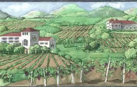 Image Is Loading Wine Vineyard Wallpaper Border Grapes Napa Valley Tuscany
