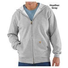 carhartt midweight fleece zip front hooded sweatshirt k122