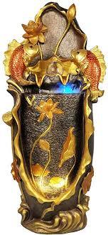 de zzkjxhj zimmerbrunnen dekoration goldfisch