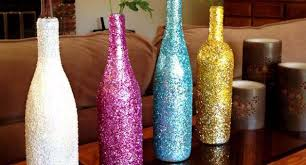 Glitter Wine Bottle Decote Ideas