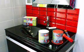 peinture sur carrelage cuisine repeindre le carrelage de la crédence de ma cuisine côté maison