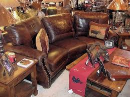 Wonderful Western Leather Sofa Cowboy Furniture More Information