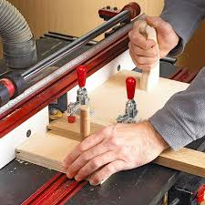 router table cope cutting sled woodworking plan from wood magazine