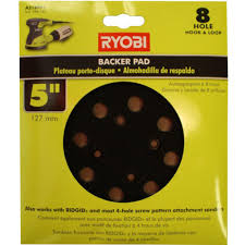 Square Buff Floor Sander Pads by Ryobi 5 In Backer Pad For Orbital Sanders A21bp01 The Home Depot