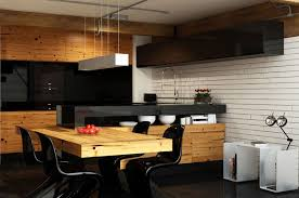 Urban Kitchen Design With Black Pantone S Chairs