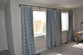 Grey Striped Curtains Target by Simple Egg Blue Curtain For White Wooden Frame Glass Window Also