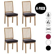 Dining Room Chair Seat Covers - 4 Pack Spandex Stretch Desk Chair Covers  For Dining Room - Premium Jacquard Office Computer Chair Seat Protectors ... Ding Room Chairs Covers Dream Us 39 9 Top Grade How To Recover A Chair Hgtv Amazoncom Bed Bath Beyond Gold Floral Make Custom Slipcover College Dorm Registry Presidio Ding Chair Mullings Spindle Back