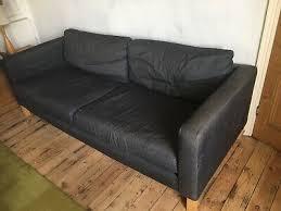 ikea karlstad knisa hellgrau 3er sofa bezug light grey 3