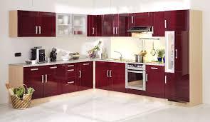 küchen unterschrank varel 2 türig 100 cm breit hochglanz bordeaux rot