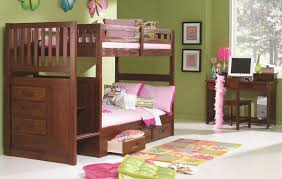 merlot twin over full bunk bed with mounted ladder walker s