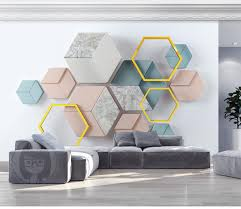 großhandel benutzerdefinierte moderne minimalistische geometrische marmor wohnzimmer schlafzimmer hintergrund wand dekoration wandbild tapete der