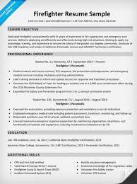 resume for firefighter paramedic firefighter resume sle writing tips resume companion