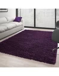 hochflor langflor wohnzimmer shaggy teppich florhöhe 3cm unifarbe lila
