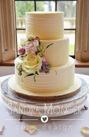 Rustic White Chocolate Ganache Wedding Cake