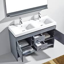 48 Inch Double Sink Vanity White by Fresca Oxford 48 Double Sink Bathroom Vanity Antique White Finish