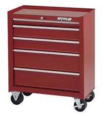 Amazon.com: Waterloo Shop Series 5-Drawer Tool Cabinet, Red Finish ...