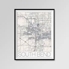 Notre Dame Pumpkin Stencil Print Out by South Bend Indiana Map South Bend City Map Print South Bend
