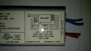 how to wire a replacement ballast with different wiring the
