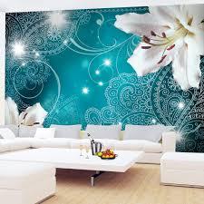 runa tapeten 9197011a fototapeten lilien blumen türkis 352 x