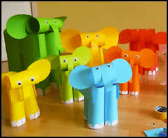 Home How To Make Fun Kids Crafts Easy Paper Elephants Ideal Modest Decoration